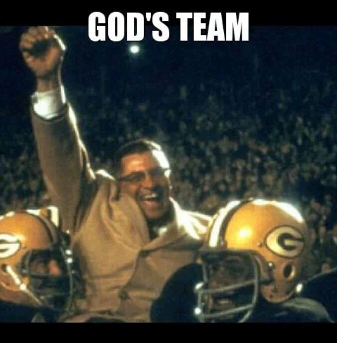 God S Team Go Pack Green Bay Packers Pinterest I