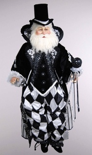 Katherine's Collection Life Size Black Tie Santa Display Doll