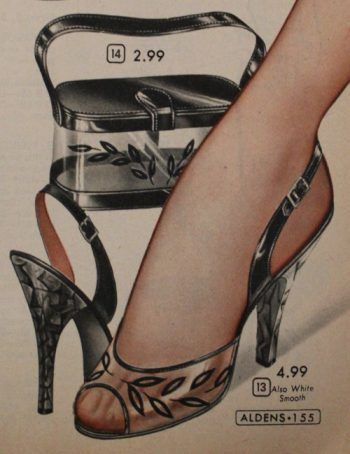 1957 Clear Plastic Bag with Matching Clear Shoes