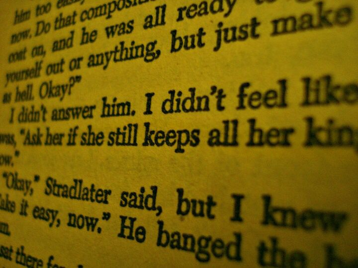 """""""Ask her if she still keeps all her kings in the back row..."""" Catcher in the Rye"""