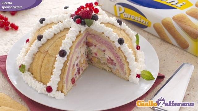 Zuccotto Pavesini tuttifrutti. Excellent!!
