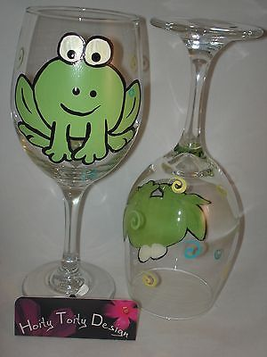 I think I'd do this frog one on a funky glass for my son. He loves frogs.