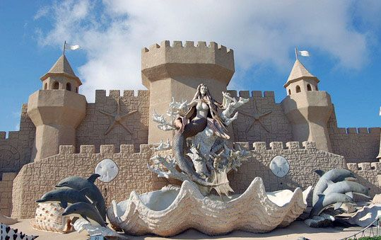 The world's largest sand castle. Corpus Christi, TX