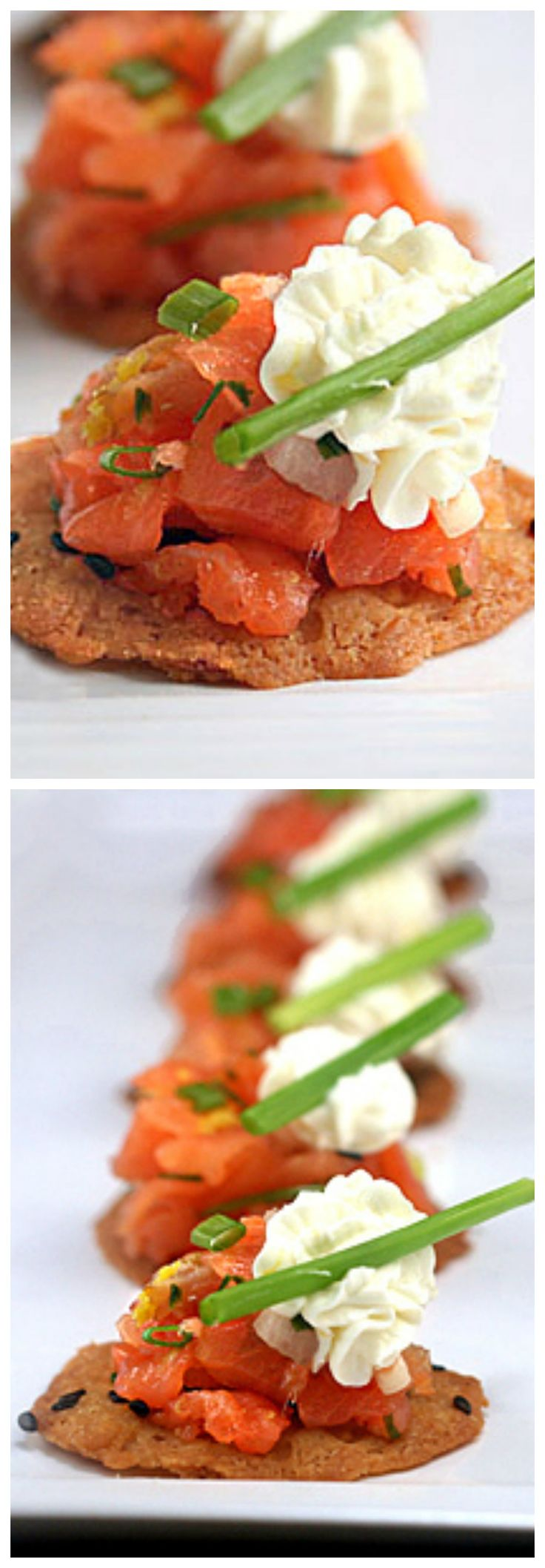 Smoked Salmon and Cream Cheese  Hors d'Oeuvres from the great chef, Thomas Keller.  An easy and delicious treat to serve on New Years Eve!