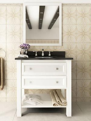 <p>The <strong>Helix Single Vanity</strong> exuberates a sense of air and flair with its crisp White finished cabinet underneath a gorgeously contrasting black granite top.</p>