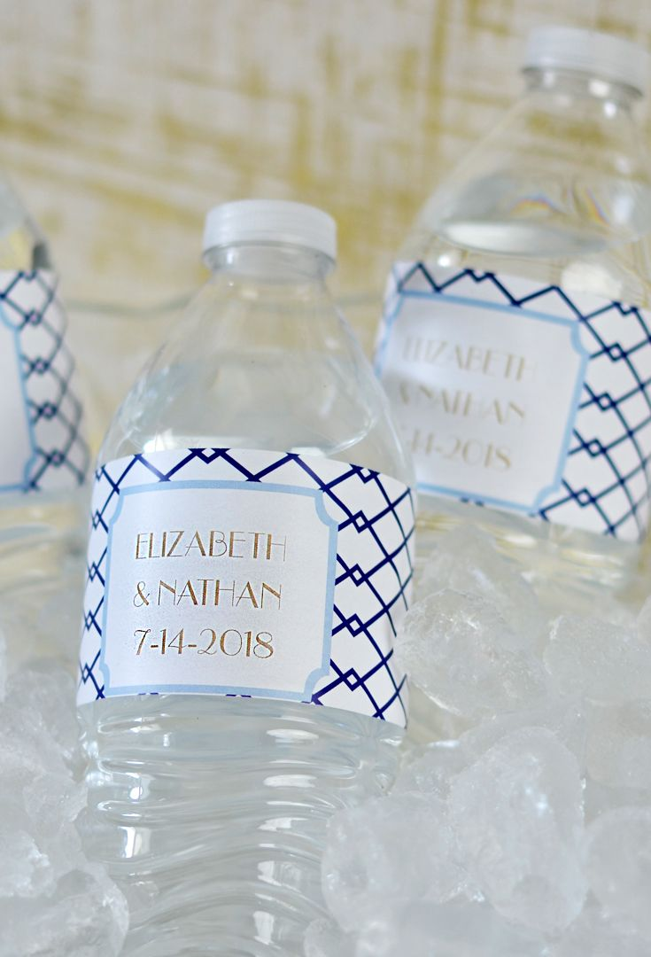 21 best Wedding Water Bottle Labels images on Pinterest | Wedding ...