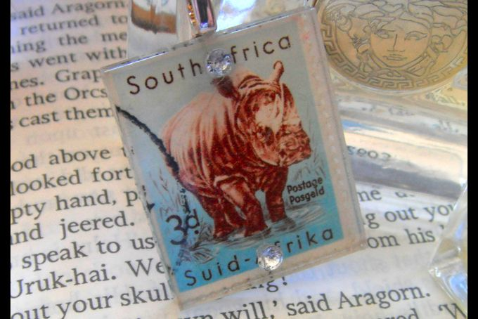 Pendants - Postage Stamp Rhino by eRa Jewelry on hellopretty.co.za