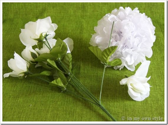 tissue paper flower bouquet This paper flower bouquet is an easy craft for children to make as a gift for mother's day  then glue on the crumpled tissue paper to be the flowers.