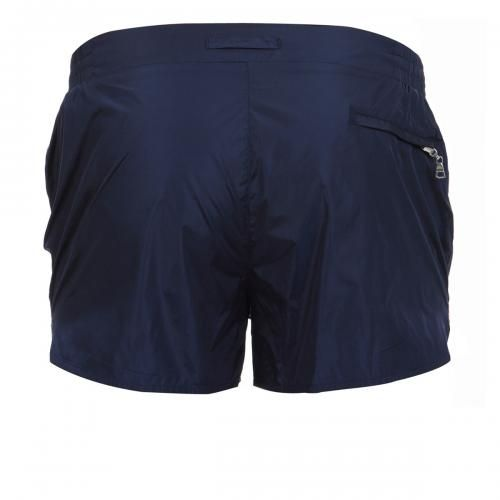 NYLON BOARDSHORTS WITH ELASTIC ADJUSTABLE WAISTBAND - Pupboy II nylon Boardshorts with an elastic adjustable waistband, internal mesh, a zippered back pocket.  #mrbeachwear #beachwear #swimshort #summer #beach #mens #fashion #orlebarbrown #blue #navy