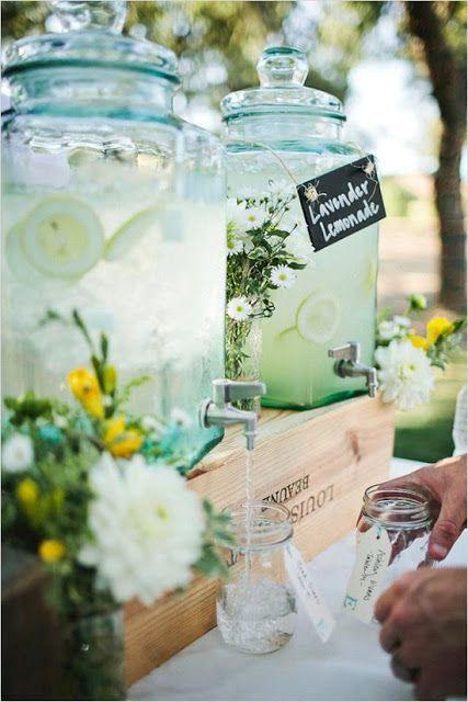 Bonbonne classique pour limonade à la lavande !