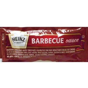 Heinz® Barbecue Sauce F03-3100101-1100 - 12 g. BBQ sauce in individual size packet. A convenient travel size for on the go.