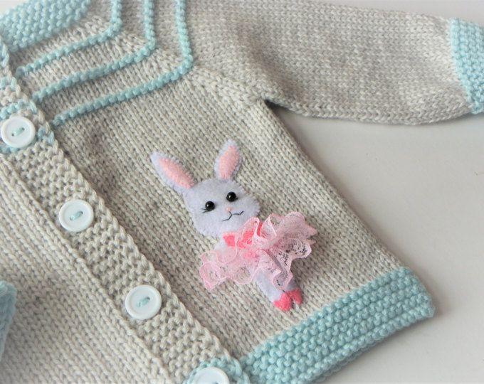 Ballerina menta chaqueta verde merino Rebeca bebita suéter suéter poco princesa HECHO a la MEDIDA