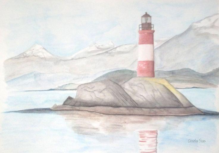 Faro de Ushuaia lápiz acuarelable #dibujo #draw #sketch #ilustración