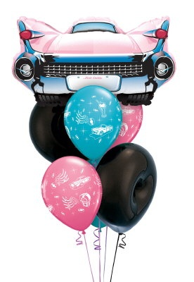 Grease/50's/Rock'n'Roll Themed Party Balloon Bouquet