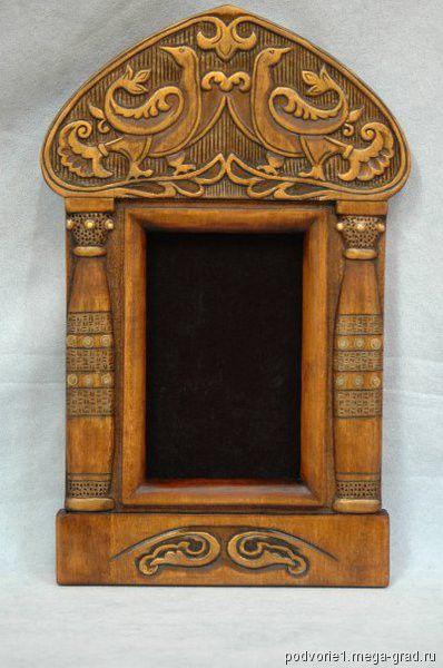 Russian Frame, possibly an icon box? МегаГрад, handmade авторская фоторамка/рама - Рамка для фото, Юлия