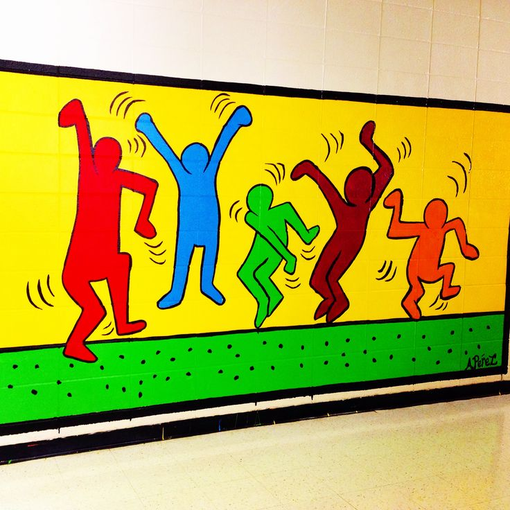 My Keith Haring  inspired Mural.