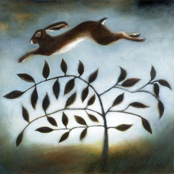 The Hare and the Bayleaf Tree Greeting Card by Ruth Molloy