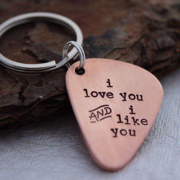 I love you AND I like you Guitar Pick