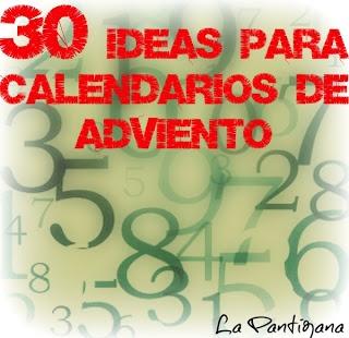 ideas para hacer calendarios de adviento