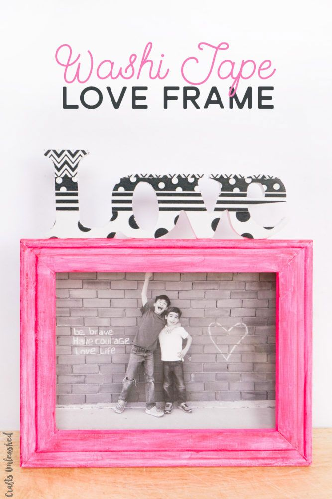 This washi tape frame can be customized easily by changing out the frame, wording, or tape. Follow along to make your own today!
