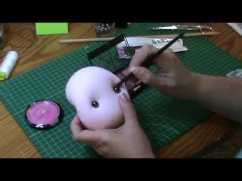 Muñeca completa 7ª parte y final: Maquillamos y terminamos - YouTube