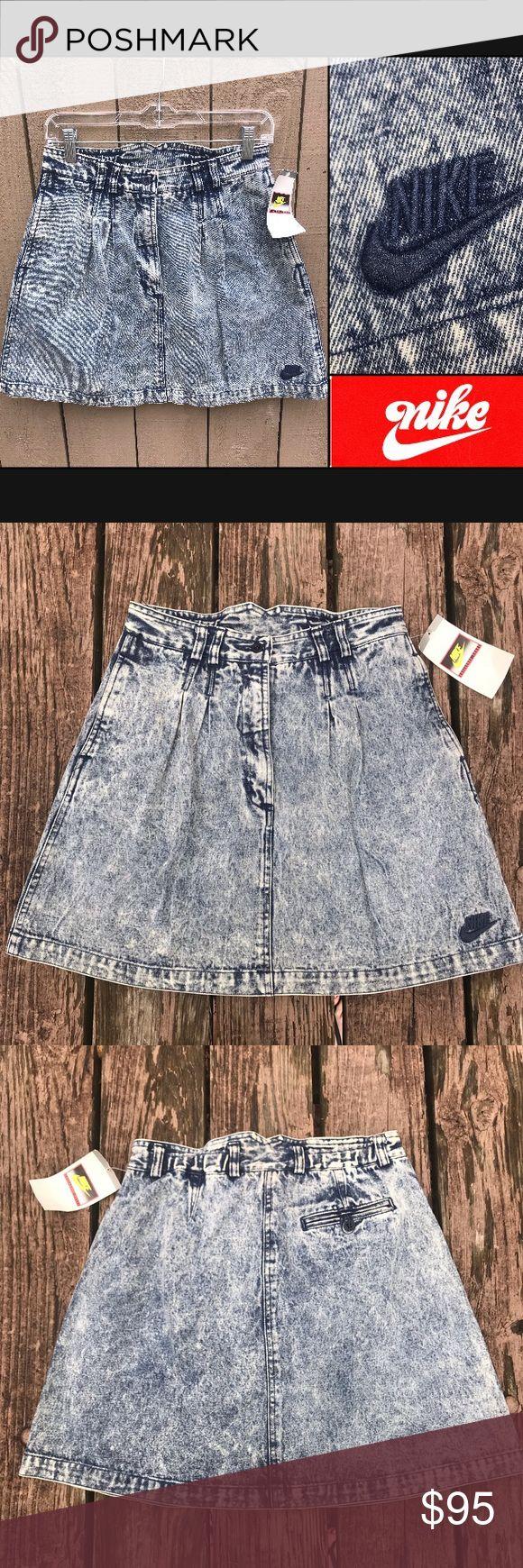 ✔️ Vintage Nike High Waist Agassi Acid Wash Skirt •Brand: Nike •Style: V…