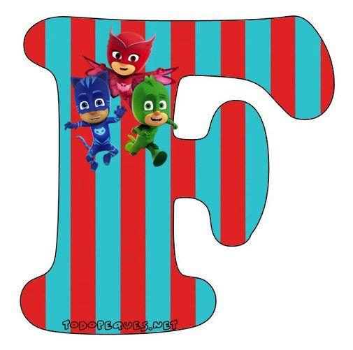 Abecedario-heroes-en-Pijamas-Letra-F-Letters-Pj-Masks.jpg (505×501)