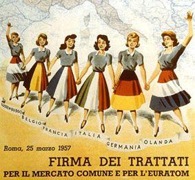 25 de marzo de 1957 - Tratados de Roma. Los seis países fundadores de la exitosa CECA deciden dar un paso adelante en el proyecto de construcción europea.