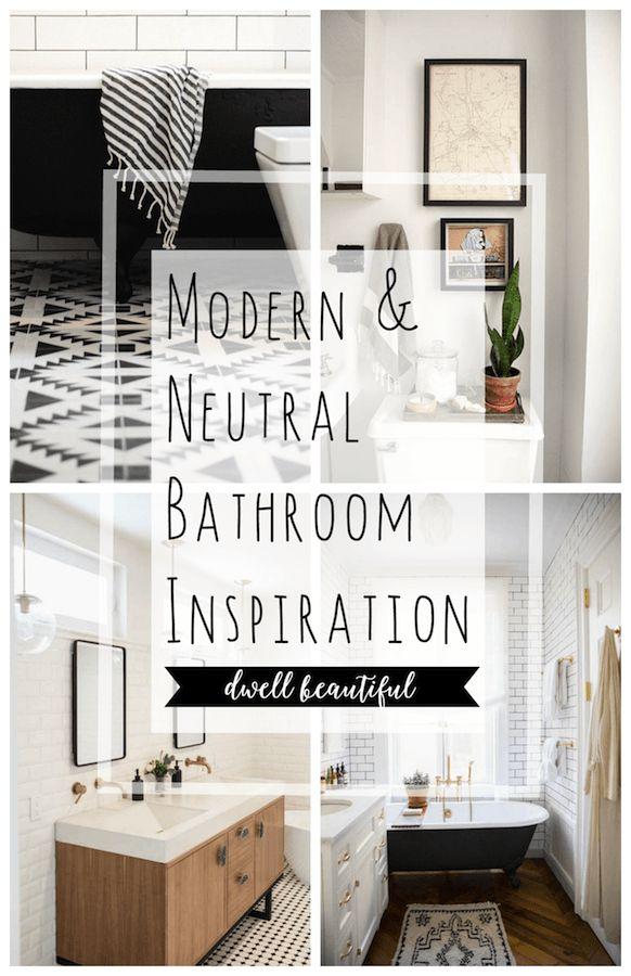 Get the look of a beautiful neutral and modern master bathroom with these design and decor ideas for your home. From gorgeous tile to pretty fixtures and accents, make your bathroom an oasis!