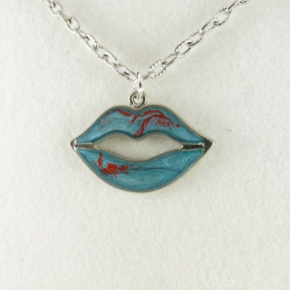 Antique Silver Fantasy Blue and Red Swirled by ChaoticBliss