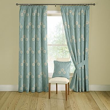 Duck Egg Montrose Lined Curtains With Pencil Heading