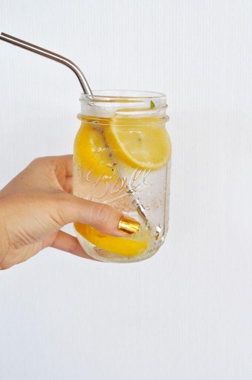 sugar water with lemons