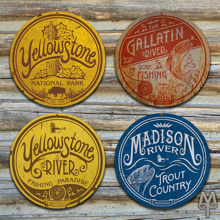 There's lots of beauty flowing in and out of our country's first National Park. Add these Montana Treasures decorative metal wall signs to your home, cabin, or man cave; and, show everyone that you love all things fly fishing and Yellowstone National Park.