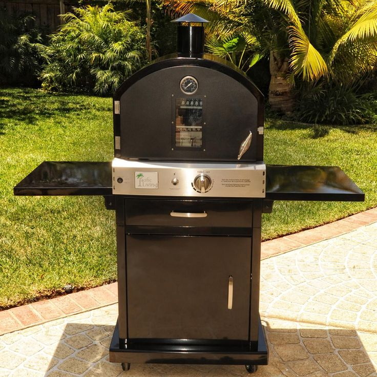 Pacific Living Outdoor Gas Pizza Oven On Cart PL8BLKBG070