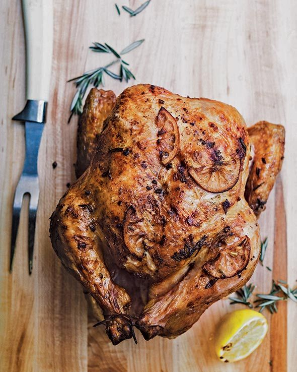Whole Grilled Chicken Recipe (To be fair, we ought to warn you that this whole grilled chicken recipe with lemon and rosemary may ruin roast chicken for you. It's that easy and good.)