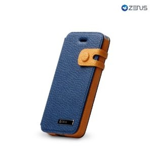 Zenus iPhone 5 Leather Masstige Colour Edge Diary Series - Navy Blue