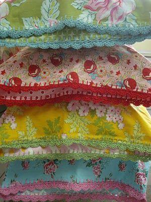 "WONDERFUL cases using the ""On the Edge...  Pillowcase Crochet Along"" tutorial!  Love!"