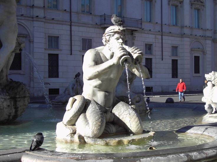 tritón en Plaza Navona