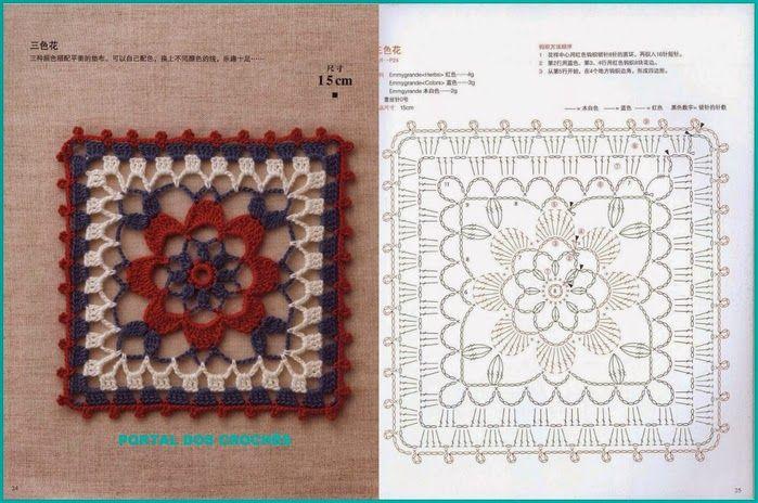 REGINA RECEITAS DE CROCHE E AFINS: padrões de croche.delicadezas.Livro japonês de cro...