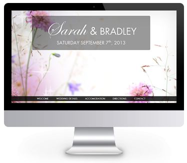 Floral theme wedding website by ourbigdayinfo.com - Test drive this for your wedding website today with a free trial