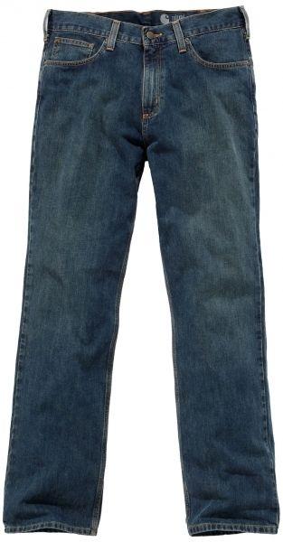 Lækre jeans fra Carhartt Workwear - Arbejdsjeans Relaxed Straigh, 100% bomuld, mørk denim (B320-WTB) - ArbejdsBUKSER - BILLIG-ARBEJDSTØJ.DK