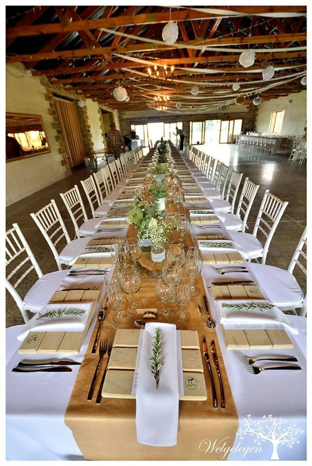 Welgelegen Wedding Venue - long tables
