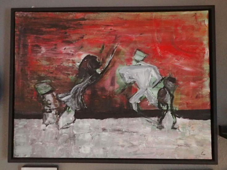 Dancing shadows Acrylic painting