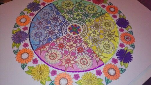 From Secret Garden Art Edition coloured yesterday night