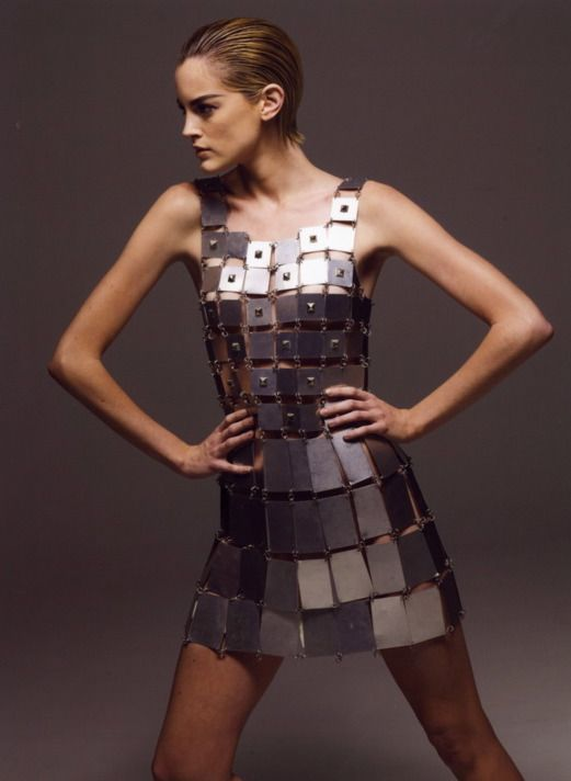 paco rabanne metal dress 20 20 39 s party pinterest blog metals and dresses. Black Bedroom Furniture Sets. Home Design Ideas