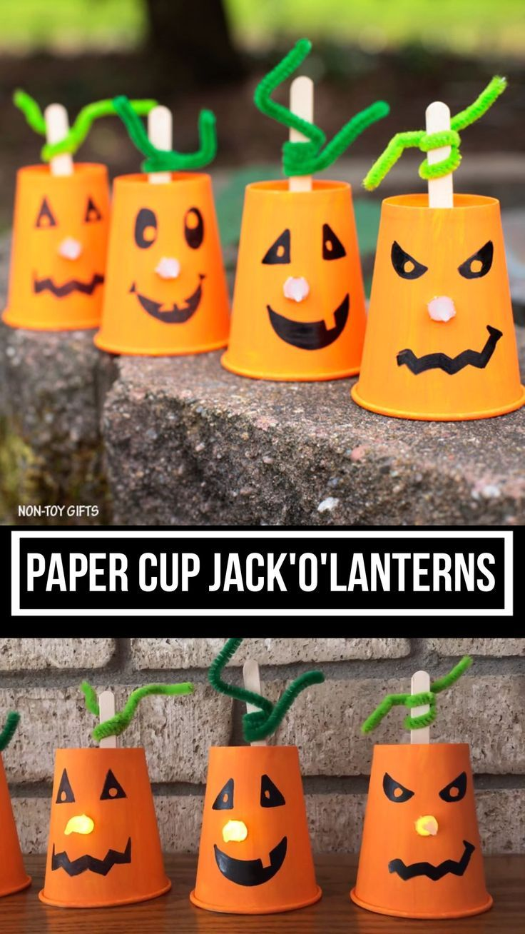 Paper cup Jack'O'Lantern – Youtube Ideen DIY –   #Cup #Diy #Ideen #JackOLantern … – Best Crafts for Home