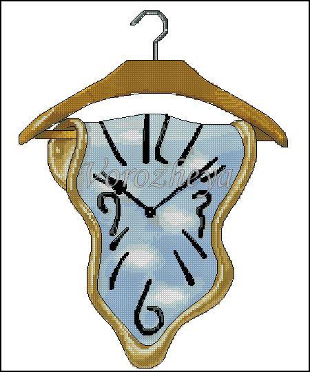 Dali Cross-Stitch Clock Face Clock Face! ;-D WANT!!!