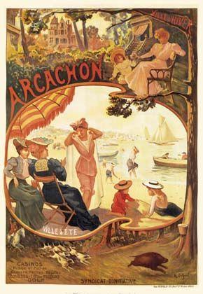 Arcachon Tourism Giclee Art Print