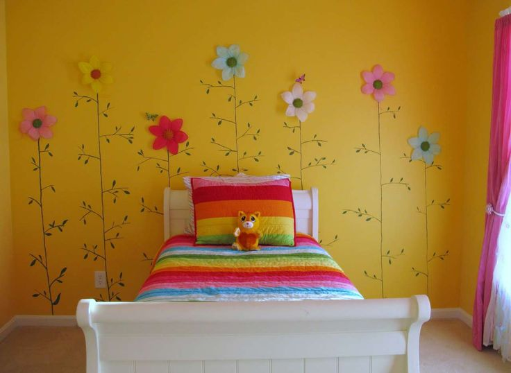 Pink Room Wall Decor For Kid ~ http://www.lookmyhomes.com/easy-room-wall-decor/
