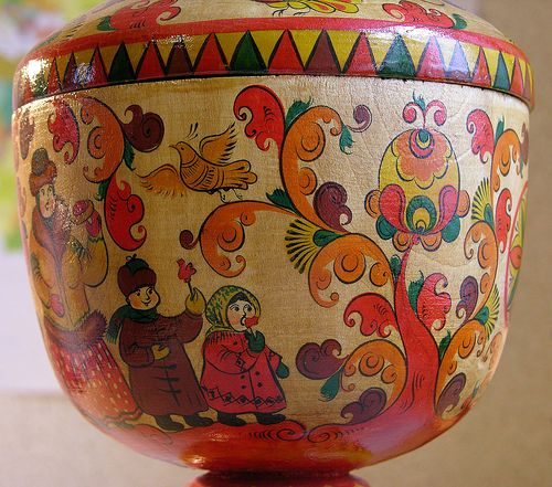 Folk painting of Northern Dvina. Cup | alison_gor | Flickr